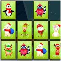 Game Animals Memory Xmas