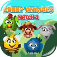 Game Funny Animals Match 3