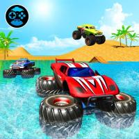 Game Monster Truck Water Surfing: Truck Racing Games