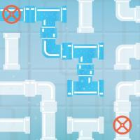 Game Pipes Flood Puzzle