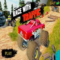 Game Ultimate MonterTruck Race With Traffic 3D