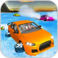 Game Water Surfer Car Floating Beach Drive Game